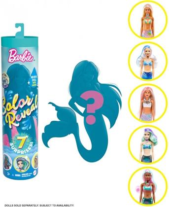 """Barbie Color Reveal Puppen Sortiment """"Meerjungfrauen"""" Welle 4 - assortiert, 1 Stück"""