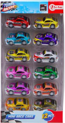 Turbo Racers Set - Rallye Autos, 12 Stück,