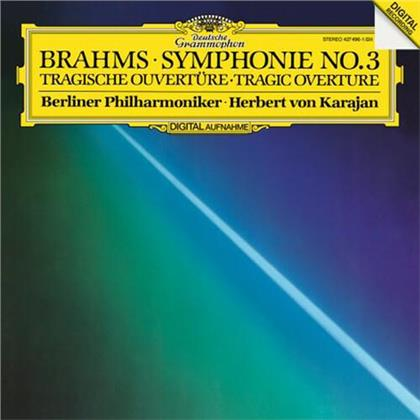 Johannes Brahms (1833-1897), Herbert von Karajan & Berliner Philharmoniker - Symphony No. 3, Tragic Overture (LP)