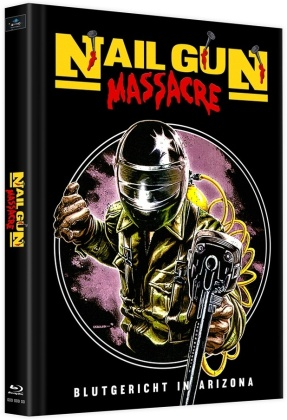 Nail Gun Massacre (1985) (Cover B, Limited Edition, Mediabook, Uncut, 2 Blu-rays)