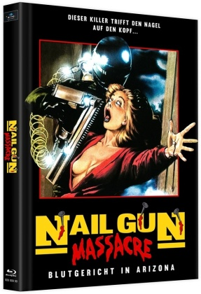 Nail Gun Massacre (1985) (Cover C, Limited Edition, Mediabook, Uncut, 2 Blu-rays)