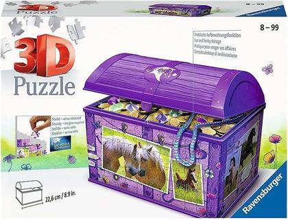 Schatztruhe Pferde - 216 Teile 3D Puzzle