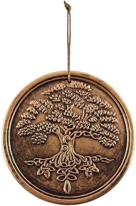 Tree of Life - Bronze Terracotta Plaque by Lisa Parker