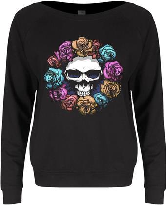 Skull Roses - Ladies Slounge Sweater