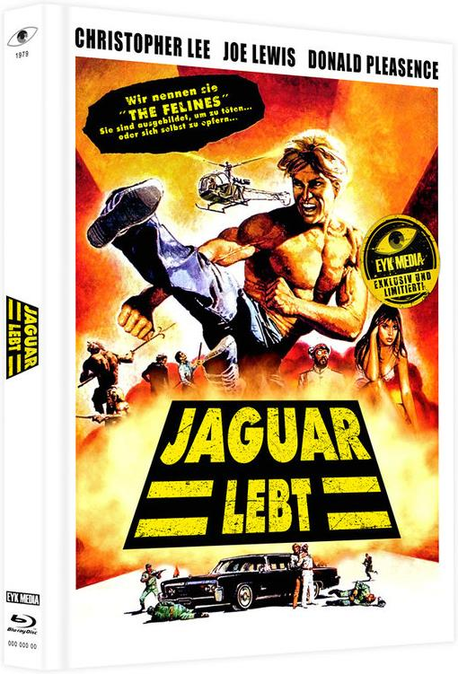 Jaguar lebt - Jaguar lives (1979) (Cover C, Limited Edition, Mediabook, Uncut, Blu-ray + DVD)