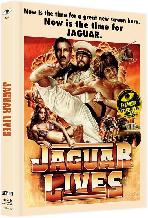 Jaguar lives - Jaguar lebt (1979) (Cover A, Limited Edition, Mediabook, Uncut, Blu-ray + DVD)