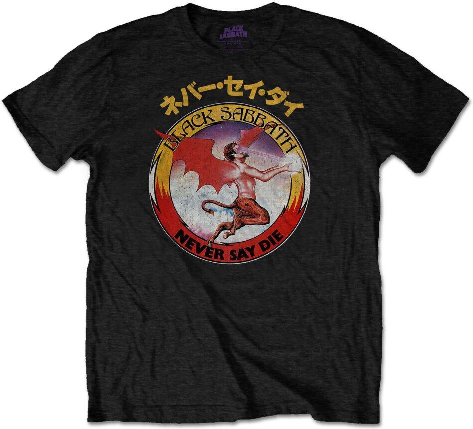 Black Sabbath Unisex Tee - Reversed Logo - Grösse M