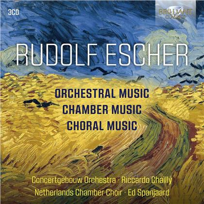 Rudolf Escher, Riccardo Chailly & Concertgebow Orchestra - Orchestral, Chamber And Choral Music (3 CDs)