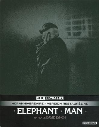 The Elephant Man (1980) (40th Anniversary Edition, s/w, Limited Edition, Restaurierte Fassung, Steelbook, 4K Ultra HD + 2 Blu-rays)