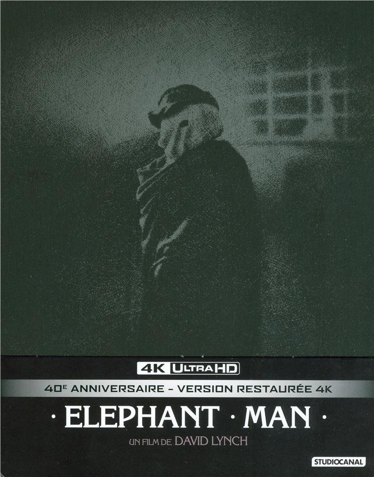Elephant Man (1980) (40th Anniversary Edition, s/w, Limited Edition, Restaurierte Fassung, Steelbook, 4K Ultra HD + 2 Blu-rays)
