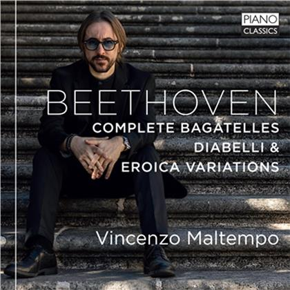 Ludwig van Beethoven (1770-1827) & Vincenzo Maltempo - Complete Bagatelles, Diabelli Variations, Eroica Variationen (2 CDs)