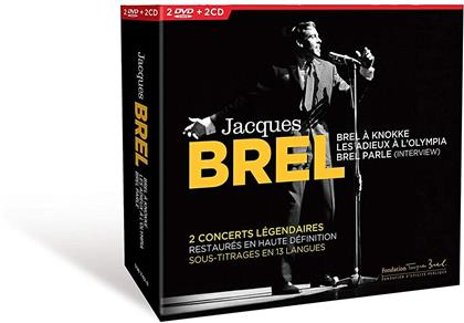 Jacques Brel - En Concert (2 CDs + 2 DVDs)