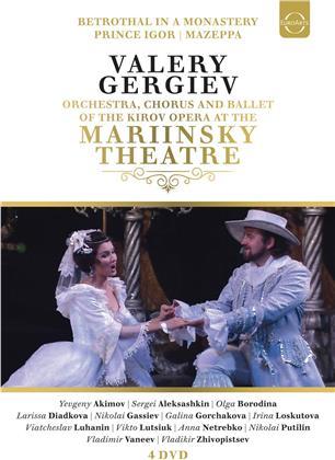 Kirov Orchestra & Valery Gergiev - Mazeppa / Prinz Igor / Die Verlobung im Kloster (Euroarts, 4 DVDs)