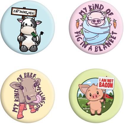 Eat More Veg - Badge Pack