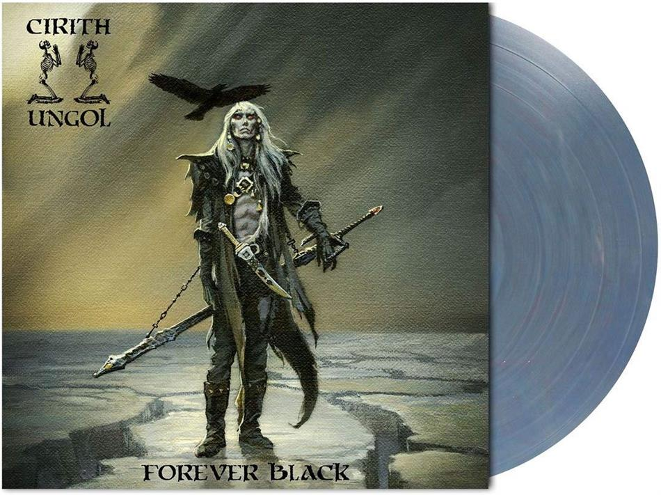 Cirith Ungol - Forever Black (Light Blue / Red Marbled Vinyl, LP)