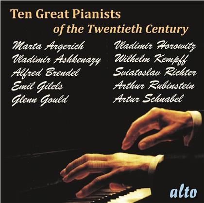 Martha Argerich, Vladimir Ashkenazy, Alfred Brendel, Emil Gilels, Glenn Gould (1932-1982), … - Ten Great Pianists Of The Twentieth Century (10 CDs)