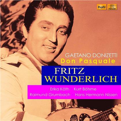 Gaetano Donizetti (1797-1848), Meinhard von Zallinger, Erika Köth, Kurt Böhme, Fritz Wunderlich, … - Don Pasquale (2 CDs)