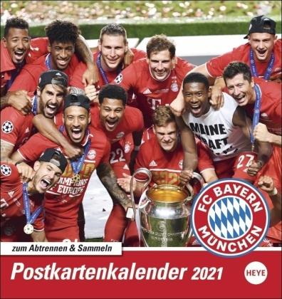 FC Bayern München Postkartenkalender Kalender 2021