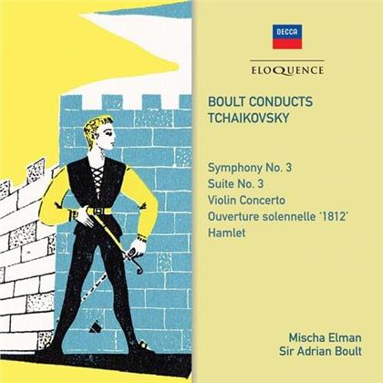 Peter Iljitsch Tschaikowsky (1840-1893), Sir Adrian Boult & Mischa Elman - Symphony 3 / Violin Concerto (Australian Eloquence)