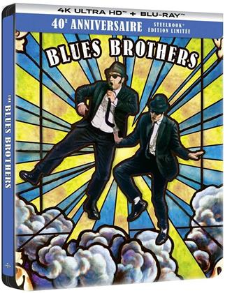 The Blues Brothers (1980) (40th Anniversary Edition, Limited Edition, Steelbook, 4K Ultra HD + Blu-ray)