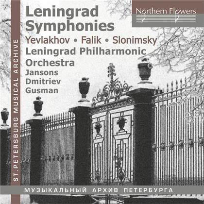 Leningrad Philharmonic Orchestra, Orest Alexandrovich Yevlakhov, Yuri Alexandrovich Falik (1936-2009) & Sergei Slonimsky (*1932) - Leningrad Symphonies - Yevlakov Falik Slonimsky