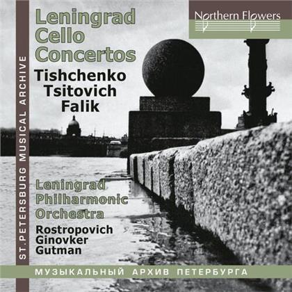 Boris Tishchenko (*1939), Tsitovich, Yuri Alexandrovich Falik (1936-2009), Natalia Gutman, Mstislav Rostropovitsch, … - Cello Concertos