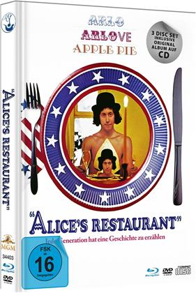 Alice`s Restaurant (1969) (Limited Edition, Mediabook, Blu-ray + DVD + CD)