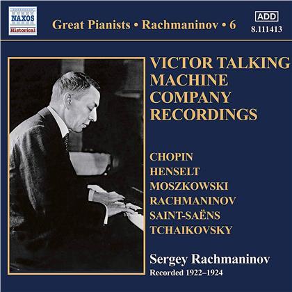 Frédéric Chopin (1810-1849), Adolph Henselt (1814-1889), Moritz Moszkowski (1854-1925), Sergej Rachmaninoff (1873-1943), Camille Saint-Saëns (1835-1921), … - Solo Piano Recordings 6