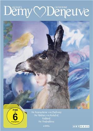Jacques Demy / Catherine Deneuve - Die Regenschirme von Cherbourg / Die Mädchen von Rochefort / Eselshaut / Die Umstandshose (4 DVDs)