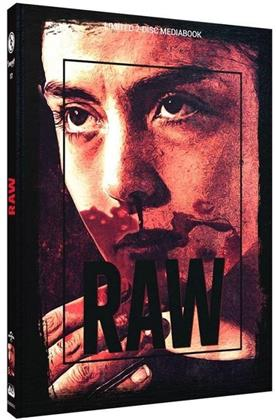 Raw (2016) (Cover C, Limited Edition, Mediabook, Blu-ray + DVD)