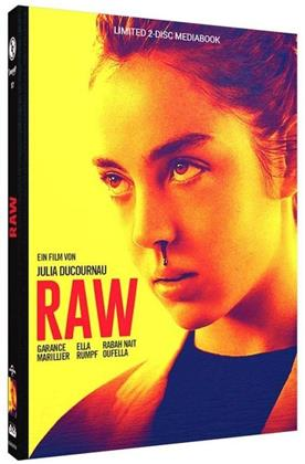 Raw (2016) (Cover B, Edizione Limitata, Mediabook, Blu-ray + DVD)