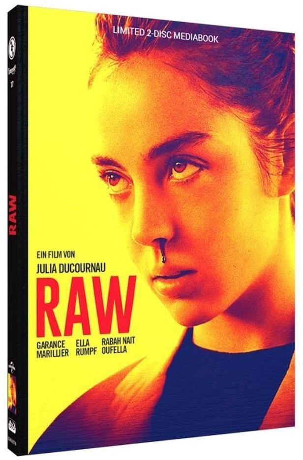 Raw (2016) (Cover B, Edizione Limitata, Mediabook, Blu-ray + DVD)