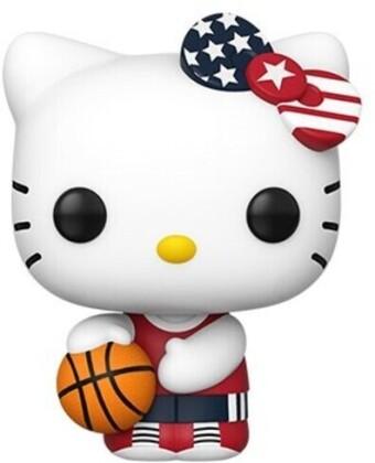Funko Pop! Sanrio: - Hello Kitty Sports Team USA - Basketball Hello Kit