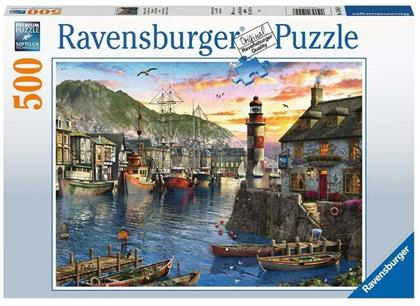Morgens am Hafen - 500 Teile Puzzle