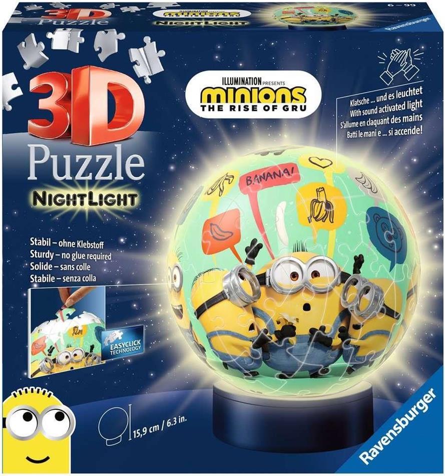 Minions 2 - Nachtlicht 3D Puzzle 72 Teile