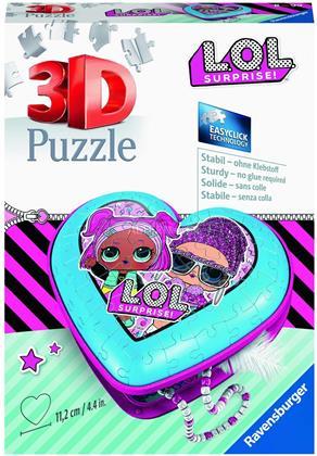 LOL Surprise: Herzschatulle - 3D Puzzle 54 Teile