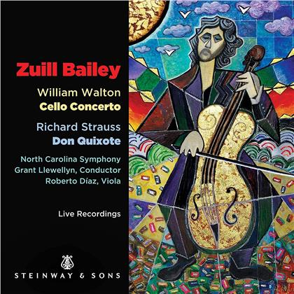 Sir William Walton (1902-1983), Richard Strauss (1864-1949), Grant Llewellyn, Roberto Diaz, Zuill Bailey, … - Cello Concerto / Don Quixote