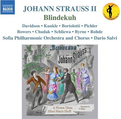 Johann Strauss II (1825-1899), Dario Salvi, Kirsten C. Kunkle, Robert Davidson & Sofia Philharmonic Orchestra - Blindekuh (2 CDs)