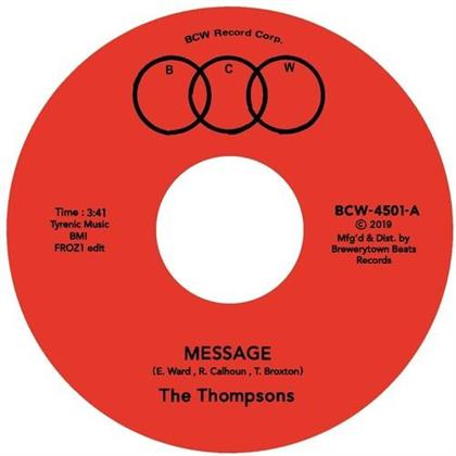"""Thompsons - Message (Froz1 Edit) / I'll Always Love You (7"""" Single)"""