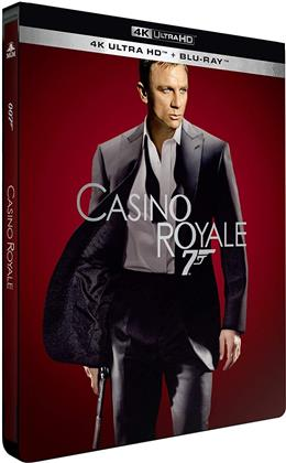 James Bond: Casino Royale (2006) (Limited Edition, Steelbook, Blu-ray + 4K Ultra HD)