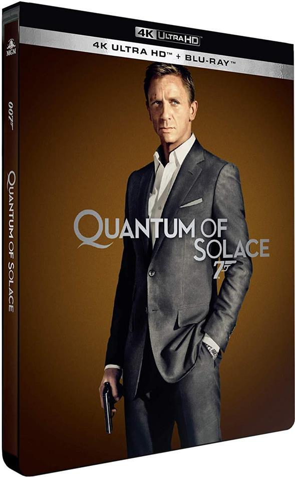 James Bond: Quantum of Solace (2008) (Edizione Limitata, Steelbook, 4K Ultra HD + Blu-ray)