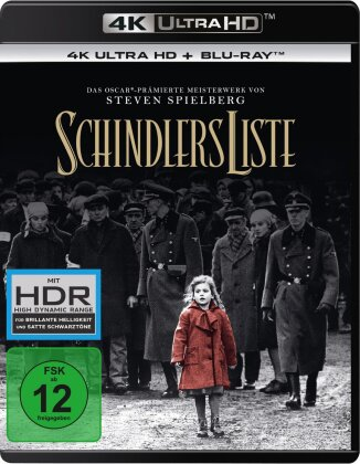 Schindlers Liste (1993) (Remastered, 4K Ultra HD + 2 Blu-rays)