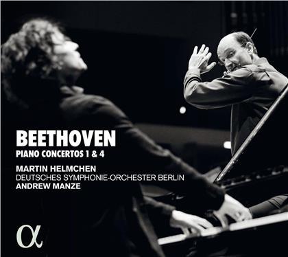 Ludwig van Beethoven (1770-1827), Andrew Manze & Martin Helmchen - Pianos Concertos 1 & 4