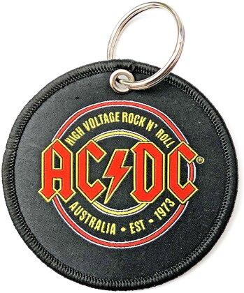 AC/DC Keychain - Est. 1973 (Double Sided Patch)