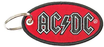 AC/DC Keychain - Oval Logo (Double Sided Patch)