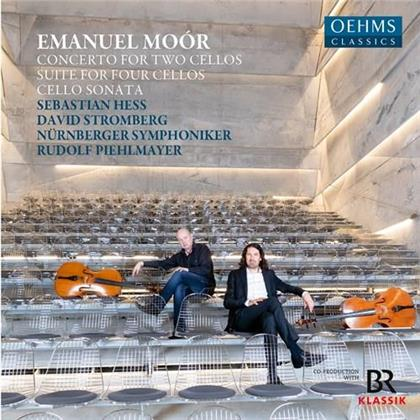 Emanuel Moor (1863-1931), Rudolf Piehlmayer, Sebastian Hess, David Stromberg & Nürnberger Symphoniker - Concerto For Two Cellos, Suite For Four Cellos, - Cello Sonata