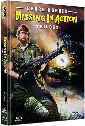 Missing in Action 1-3 - Trilogy (Cover A, Collector's Edition Limitata, Mediabook, Uncut, 3 Blu-ray)