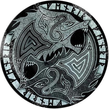 Fenrir the Wolf - Glass Chopping Board