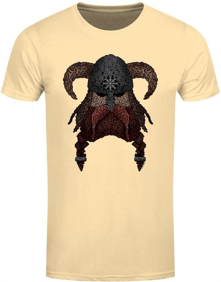 Symbolic Viking - Men's Haze Yellow T-Shirt - Grösse M