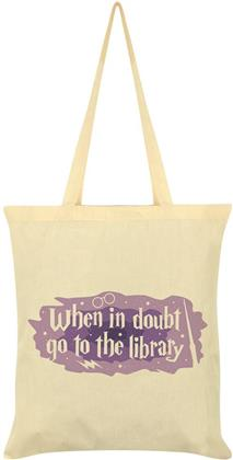 When in Doubt Go to the Library - Cream Tote Bag